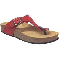 Zapatos Mujer Chanclas Plakton Cp bolero Cuero rojo