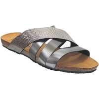 Zapatos Mujer Zuecos (Mules) Plakton Man perla Cuero gris oscuro