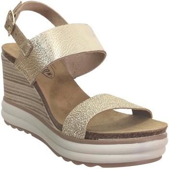 Zapatos Mujer Sandalias Plakton Plaka cuero platino