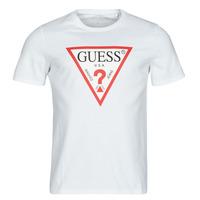 textil Hombre Camisetas manga corta Guess CN SS ORIGINAL LOGO TEE Blanco