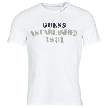 textil Hombre Camisetas manga corta Guess WORKFOR CN SS TEE Blanco
