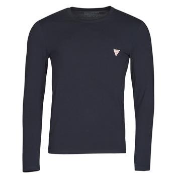textil Hombre Camisetas manga larga Guess CN LS CORE TEE Marino