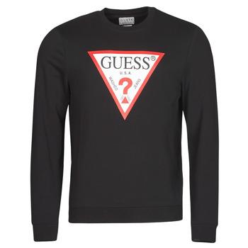 textil Hombre Sudaderas Guess AUDLEY CN FLEECE Negro