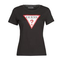 textil Mujer Camisetas manga corta Guess SS CN ORIGINAL TEE Negro