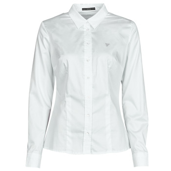 textil Mujer Camisas Guess LS CATE SHIRT Blanco