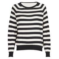 textil Mujer Jerséis Guess IRENE RN LS SWTR Negro / Blanco