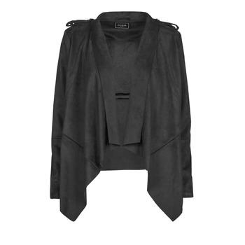 textil Mujer Chaquetas de cuero / Polipiel Guess SOFIA JACKET Negro