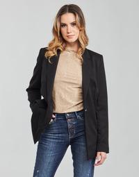 textil Mujer Chaquetas / Americana Guess AIDA JACKET Negro