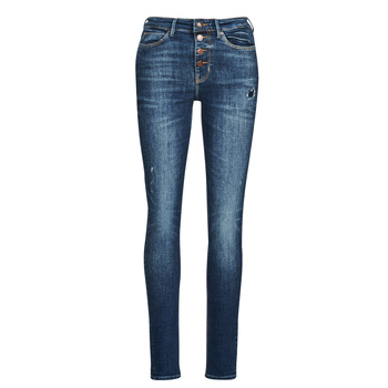 textil Mujer Vaqueros slim Guess 1982 EXPOSED BUTTON Azul