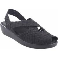 Zapatos Mujer Sandalias Vicmart Sandalia señora  140 negro Plata