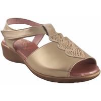 Zapatos Mujer Sandalias Duendy Pies delicados señora  318 platino Plata