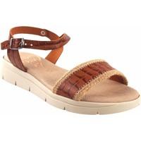 Zapatos Mujer Sandalias Duendy Sandalia señora  3206 cuero Marrón