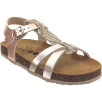 Zapatos Niña Sandalias Plakton Cross platino