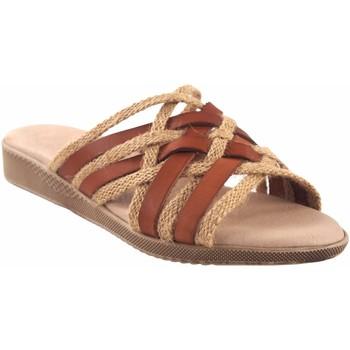 Zapatos Mujer Zuecos (Mules) Duendy Sandalia señora  3246 cuero Marrón