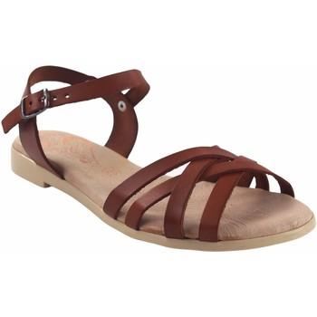 Zapatos Mujer Sandalias Duendy Sandalia señora  3265 cuero Marrón