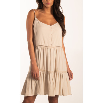 textil Mujer Vestidos cortos Beachlife Vestido de verano con tirantes finos Beachwear Amarillo