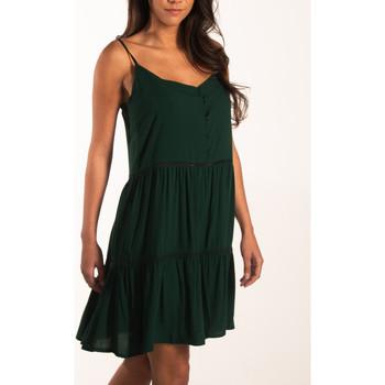 textil Mujer Vestidos cortos Beachlife Vestido de verano con tirantes finos Beachwear Verde Oscuro