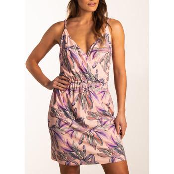 textil Mujer Vestidos cortos Beachlife Vestido de verano doble botonadura con tirantes finos Marfil