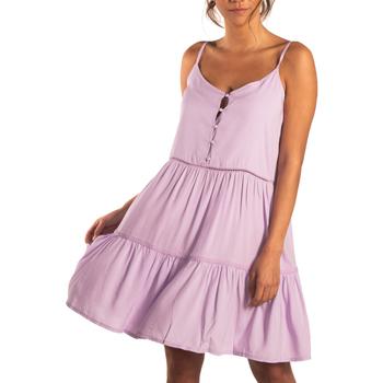 textil Mujer Vestidos cortos Beachlife Vestido de verano con tirantes finos Lavendula Púrpura/naranja