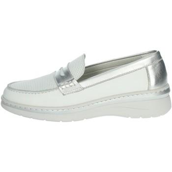 Zapatos Mujer Mocasín Notton 3200 Blanco/Argent