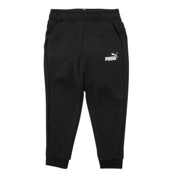textil Niño Pantalones de chándal Puma ESSENTIAL SLIM PANT Negro