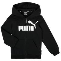 textil Niño Sudaderas Puma ESSENTIAL BIG LOGO FZ HOODIE Negro