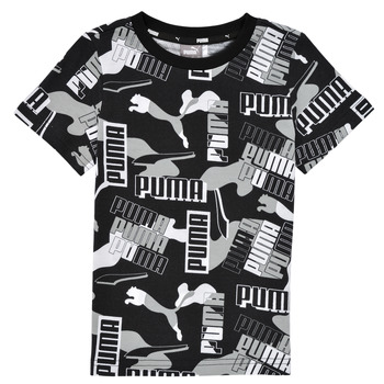textil Niño Camisetas manga corta Puma ALPHA AOP TEE Negro