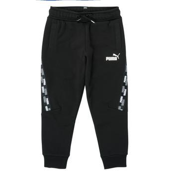 textil Niño Pantalones de chándal Puma PUMA POWER TAPE PANT Negro