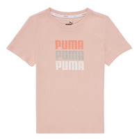 textil Niña Camisetas manga corta Puma ALPHA TEE Rosa