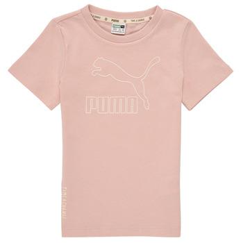 textil Niña Camisetas manga corta Puma T4C TEE Rosa