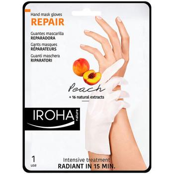 Belleza Cuidados manos & pies Iroha Nature Peach Hand & Nail Mask Gloves Repair 2 u