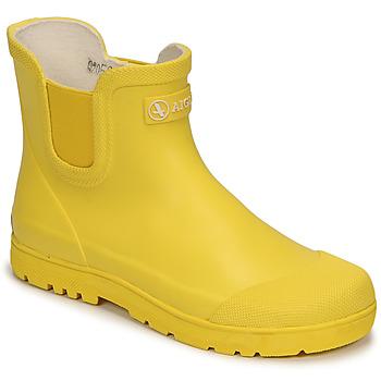 Zapatos Niños Botas de agua Aigle CHELSEA 2 Amarillo
