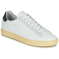 Zapatos Hombre Zapatillas bajas Clae BRADLEY CALIFORNIA Blanco / Azul