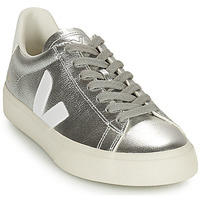 Zapatos Mujer Zapatillas bajas Veja CAMPO Plata / Blanco