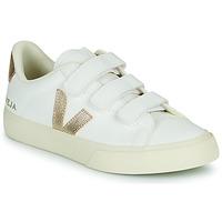 Zapatos Mujer Zapatillas bajas Veja RECIFE LOGO Blanco / Oro