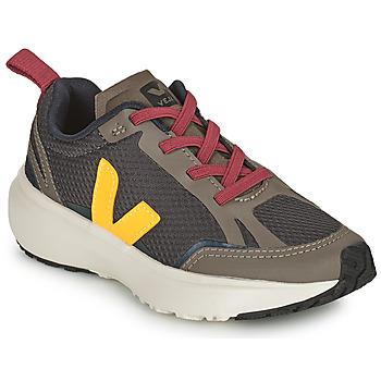 Zapatos Niños Zapatillas bajas Veja SMALL CANARY Verde / Amarillo