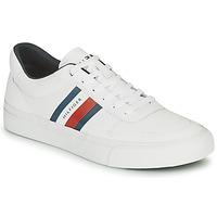 Zapatos Hombre Zapatillas bajas Tommy Hilfiger CORE CORPORATE STRIPES VULC Blanco
