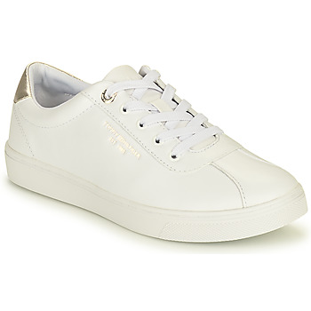 Zapatos Mujer Zapatillas bajas Tommy Hilfiger COURT LEATHER SNEAKER Blanco
