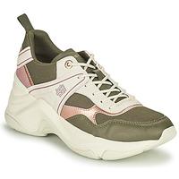 Zapatos Mujer Zapatillas bajas Tommy Hilfiger FASHION WEDGE SNEAKER Verde / Rosa