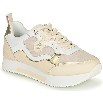 Zapatos Mujer Zapatillas bajas Tommy Hilfiger MATERIAL MIX ACTIVE CITY SNEAKER Beige / Oro