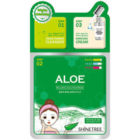 Belleza Mascarillas & exfoliantes Shinetree Aloe Relaxing Solution Mask 3 Steps  28 ml