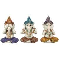 Casa Figuras decorativas Signes Grimalt Ganesha Set 3 Unidades Multicolor
