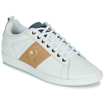 Zapatos Hombre Zapatillas bajas Le Coq Sportif COURTCLASSIC Blanco / Tan