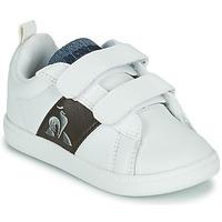 Zapatos Niños Zapatillas bajas Le Coq Sportif COURTCLASSIC INF Blanco / Marrón