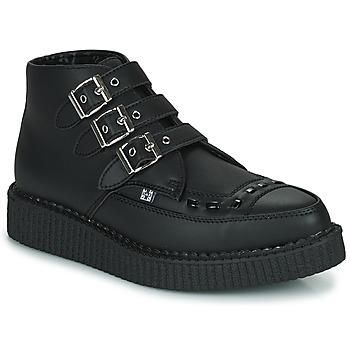 Zapatos Botas de caña baja TUK POINTED CREEPER 3 BUCKLE BOOT Negro