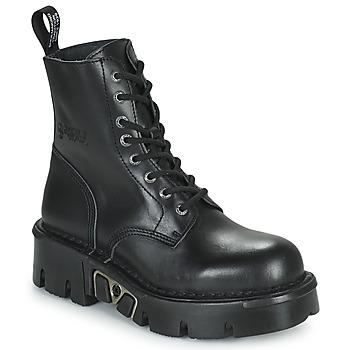 Zapatos Botas de caña baja New Rock M-MILI084N-S3 Negro