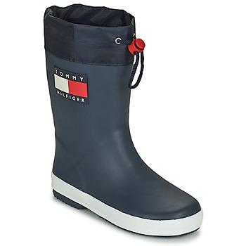 Zapatos Niños Botas de agua Tommy Hilfiger T3X6-30766-0047800 Marino