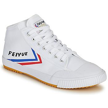Zapatos Hombre Zapatillas altas Feiyue FE LO 1920 MID Blanco / Azul / Rojo