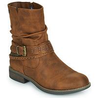 Zapatos Mujer Botas de caña baja MTNG 51892-C52072 Cognac