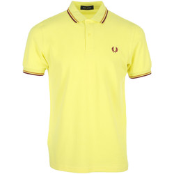 textil Hombre Polos manga corta Fred Perry Twin Tipped Shirt Amarillo
